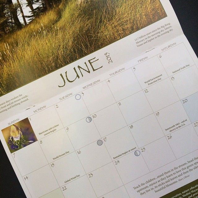 A view of Leslie Curchack's #2015 #calendar that we produced and assembled in shop.
