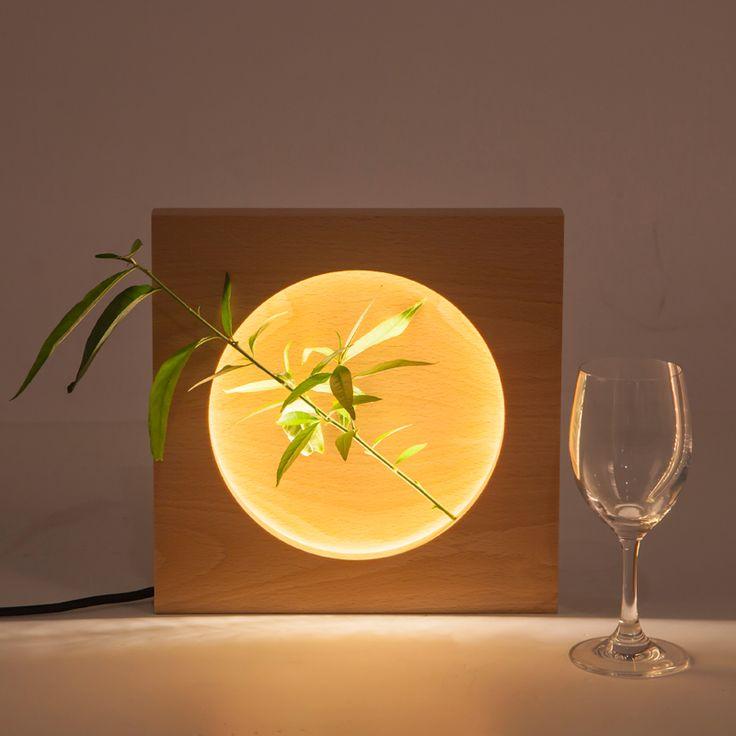 Минимализм Деревянный Современные светодиодные настольные лампы для подарка спальня гостиная украшения дома светодиодные настольные лампы 85-265 В деревянные светильники