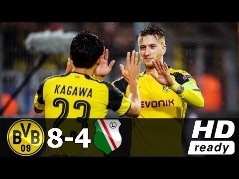 Borussia Dortmund vs Legia Warszawa 8 4   22 Nov 2016 ●Highlights & All ...