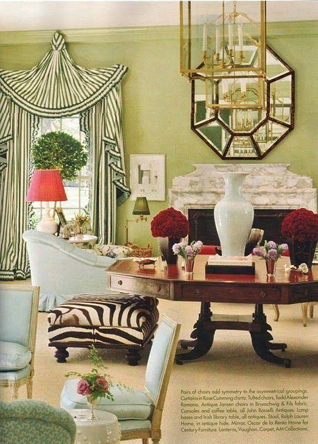 Miles Redd: Interior Design, Decor, Living Rooms, Idea, Color, Miles Redd, Window Treatments, Miles Scared