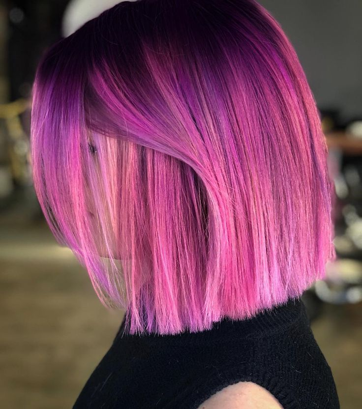 """1,967 Synes godt om, 72 kommentarer – Rockville,MD Megan Schipani (@shmeggsandbaconn) på Instagram: """" Gave this babe @sammyjay04 a fresh new color and cut today using @pulpriothair and…"""""""