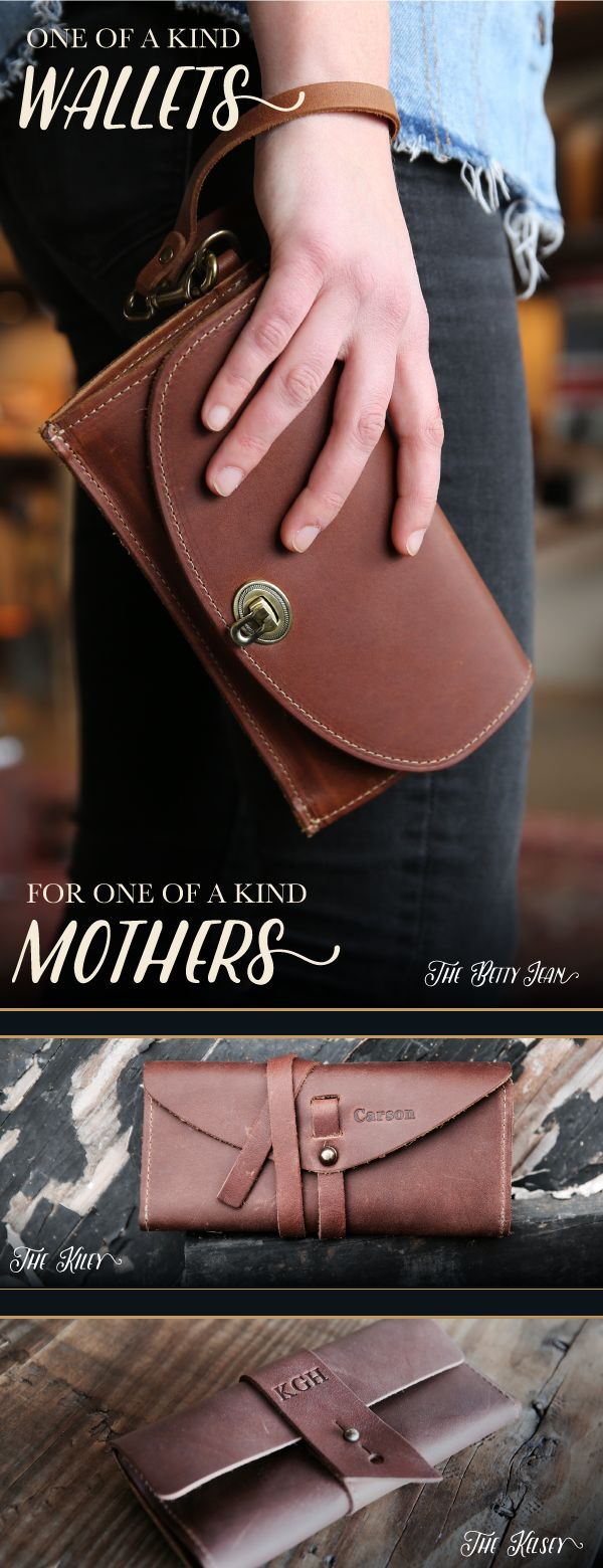 PERSONALIZED FINE LEATHER WOMEN'S POCKETBOOK WALLETS, WRISTLETS & CLUTCH PURSES - MUST HAVES FOR MOM, GIFT IDEAS FOR MOM
