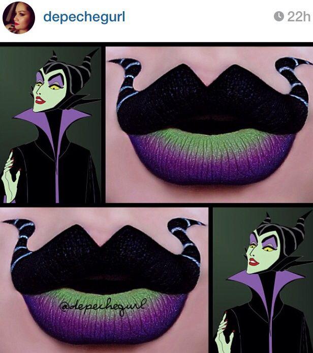 Disney Villain Lips by depechegurl on Instagram