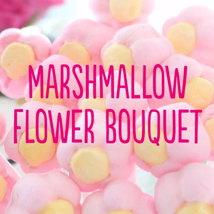 Give marshmallow flowers instead of regular flowers for a cute (and edible) surprise!