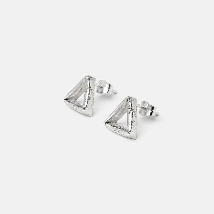 Silver Triangle Earrings // SIGEND STUDIO