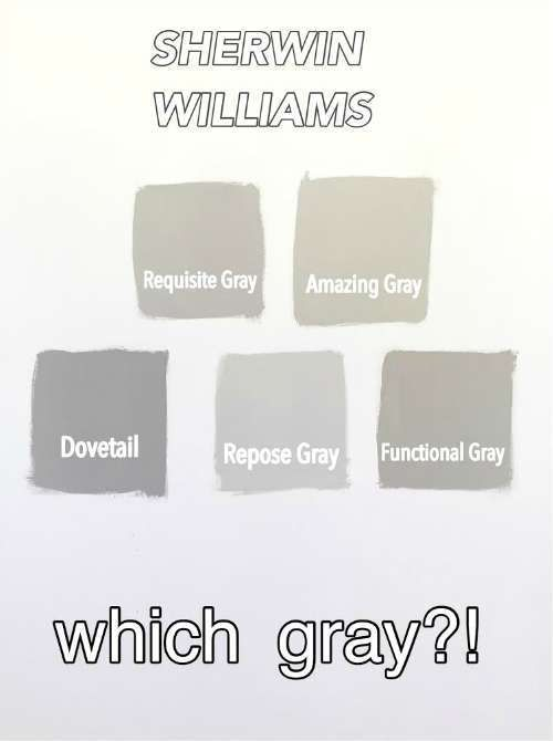 BEST SHERWIN WILLIAMS GRAY FOR OUR LIVING ROOM FROM REQUISITE GREY, AMAZING GRAY, DOVETAIL, REPOSE GRAY, FUNCTIONAL GRAY