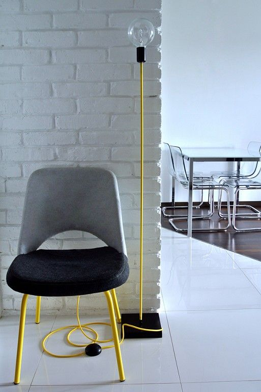 Realizacja z lampy podłogowej z kolorowymi kablami, zobacz tutaj: http://www.sklep.imindesign.pl/product/lampy-stojace-loft-design-kolorowe-kable-w-oplocie-zoltym