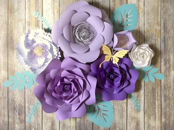 Large Paper Flowers Wall Decor Lilac Nursery Wall Art Purple Etsy Large Paper Flowers Wall Decor Purple Nursery Decor Paper Flower Wall Decor