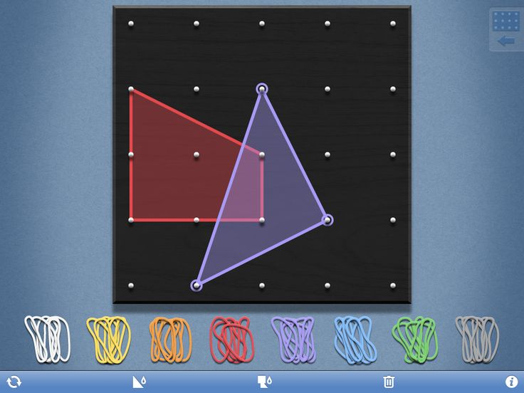Virtual Geoboard App (FREE) Simple to use and ad free. Great math app for elementary