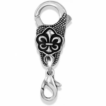 Fleur De Lis Charm Clasp~whether you're a Francophile or a lover of New Orleans, this Fleur de Lis charm clasp will add just the right touch to the closure on your charm bracelet. Silver Plated, Lobster Claw Closure, $12 #Brighton
