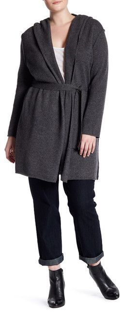 Naked Cashmere Tess Hooded Cashmere Cardigan (Plus Size)