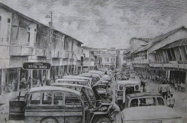 Pontianak Tempo Dulu, conte on paper, 2013, Hairi