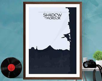 Shadow of Mordor middle earth Minimalist Artwork Video Game Print Poster Canvas/Matt/Silk/A4/A3/A2