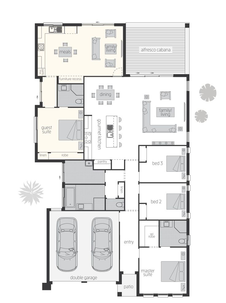 100 best floorplans images on pinterest apartment design for Extended family house plans
