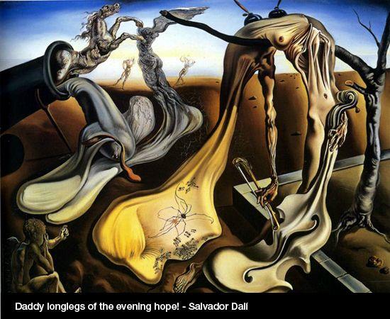 Autor Salvador Dalí. Esta imagen la he elegido por la desproporción de las figuras y su deformación.