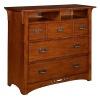 Quarter Sawn Oak Mission Craftsman Bed Height TV Stand
