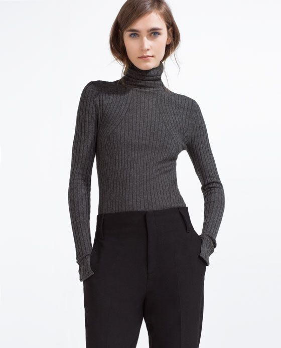 Image 2 of SWEATER WITH A ROLL-NECK from Zara