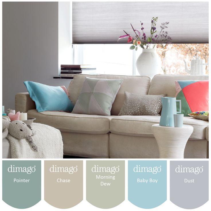 Dimago matte verfkleuren zijn exclusief verkrijgbaar bij for Interieur verfkleuren