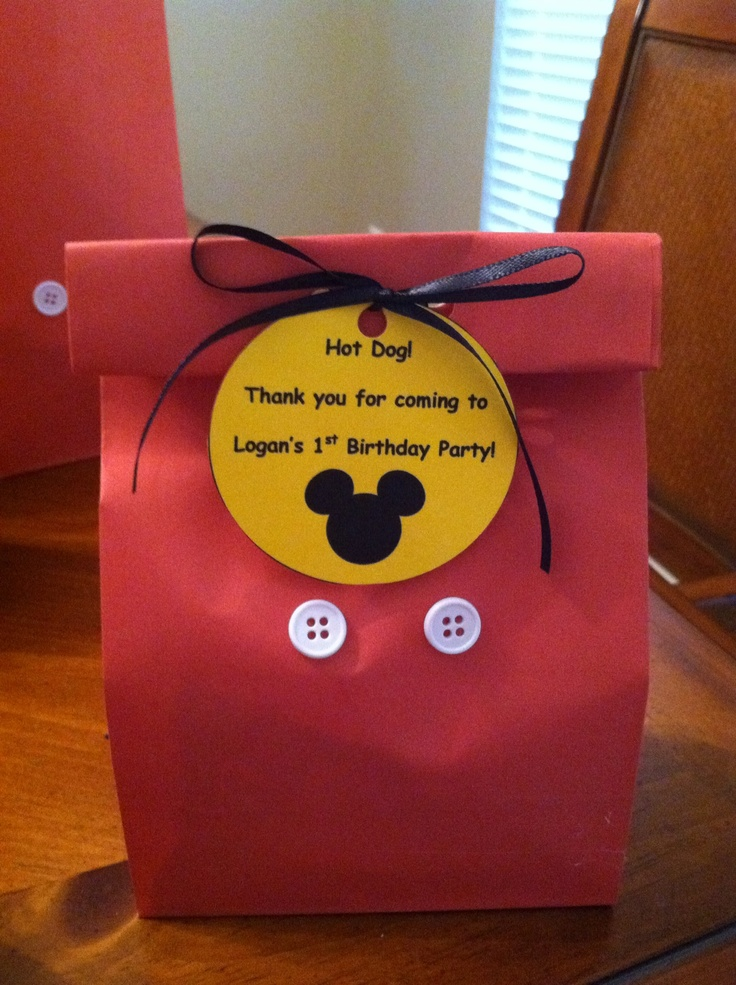 Mickey Mouse treat bags