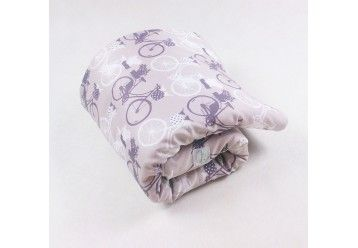 Baby Quilt Blanket Bikes from Amsterdam - 100% ORGANIC COTTON