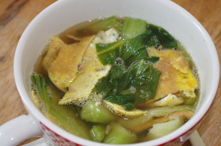 Soupe au l'œuf croustillant et au pak choï - recette thaÏ - © par Fanny GRW - Recettes d'ici et d'ailleurs