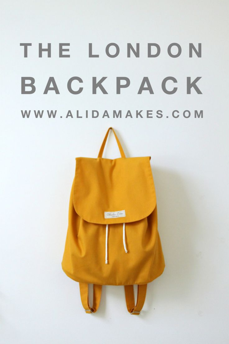 The London Backpack | made by Alida Makes | pattern by lbgstudio for willow & co patterns                                                                                                                                                                                 Más