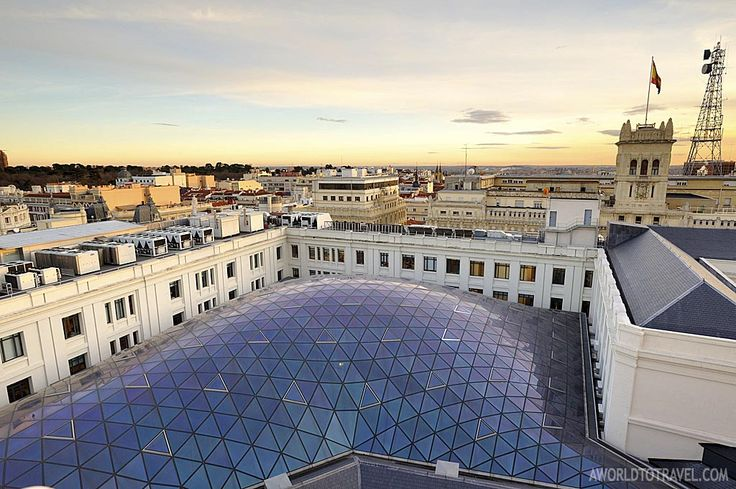 Madrid sunset postcard from Circulo de Bellas Artes rooftop – A World To Travel 2