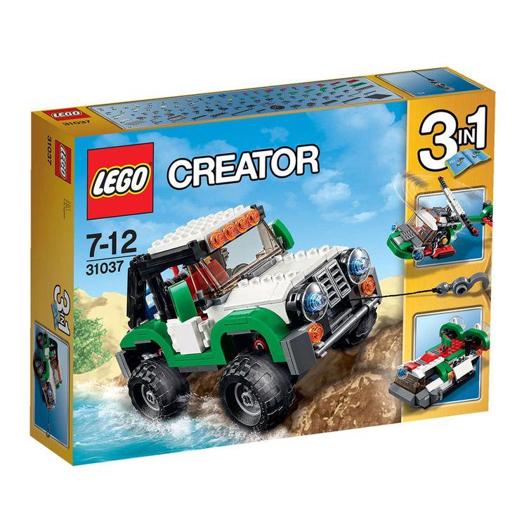 Conheça o sensacional Lego Creator - Veículos de Aventura, um incrível veículo 3 em 1 que vai proporcionar muitas aventuras.   Viva aventuras por terra, ar e água com o espantoso conjunto 3-em-1 de Veículos de Aventura LEGO® Creator!   Divirta-se a construir o robusto veículo off-road, com um esquema de cores verde, branco e preto, incríveis guincho funcional e mecanismo de gancho, portas que abrem, pneumáticos gigantes de perfil alto, guarda-lamas altos, barra para trabalhos difíceis e…