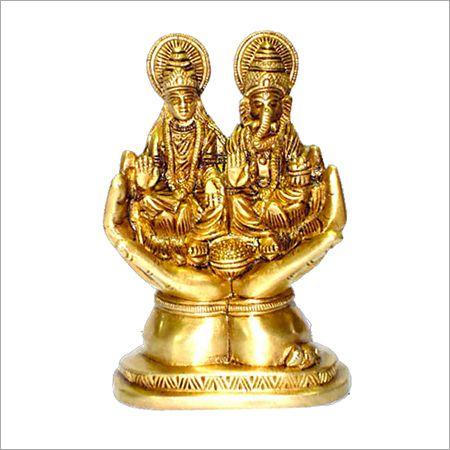 Carved Laxmi Ganesh Statue