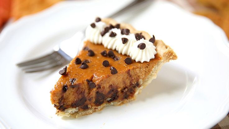 Chocolate Chip Pumpkin Pie http://www.rodalesorganiclife.com/food/creative-ways-to-up-your-pumpkin-pie-game