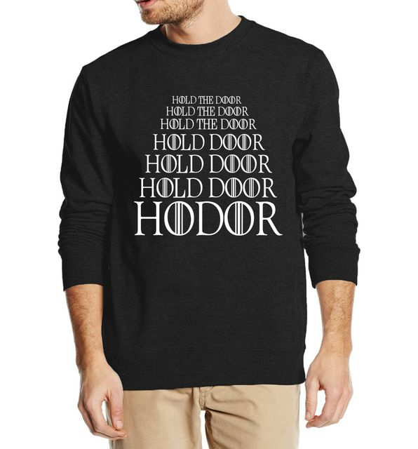 Special price HODOR Hold the Door Game of Thrones men sweatshirts 2016 autumn winter style man hoodies fleece high quality hip hop streetwear just only $10.29 - 10.92 with free shipping worldwide  #hoodiessweatshirtsformen Plese click on picture to see our special price for you