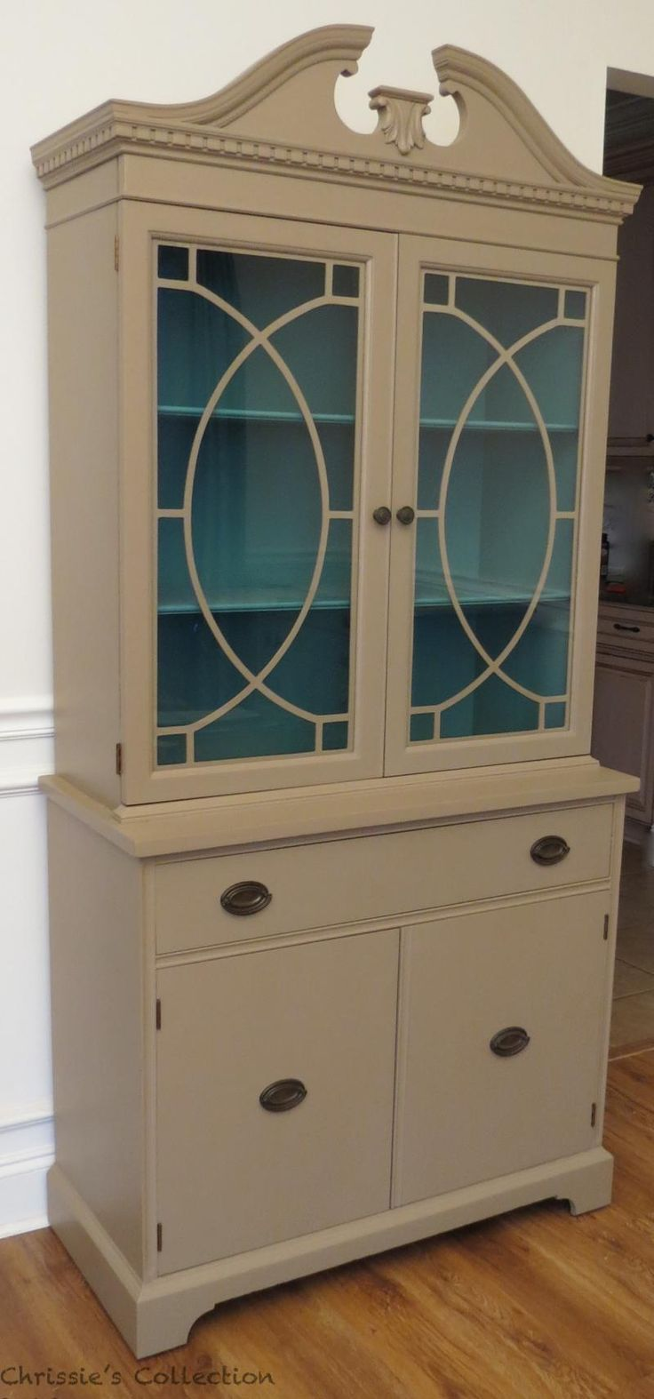 17 best images about sewing cabinet color ideas on for Painted dining room hutch ideas