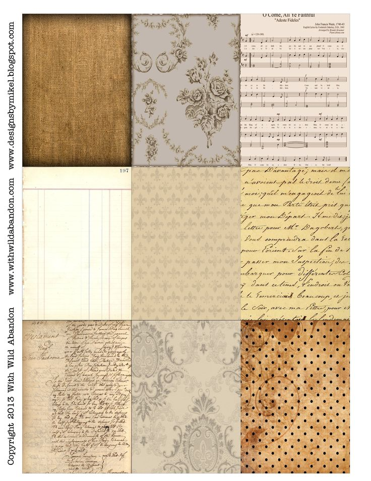 free printable ATC backgrounds #collage