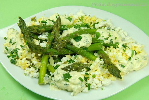 Salade de pointes d'asperges à la feta
