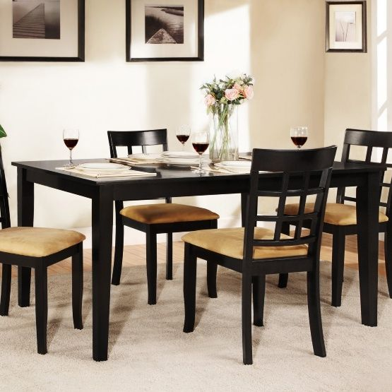 Weston Home Tibalt Black Dining Table