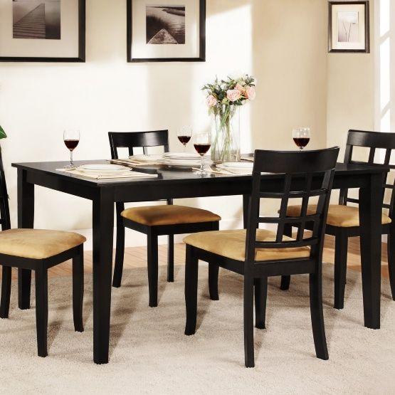 Weston Home Tibalt Black Dining Table - 60 in.