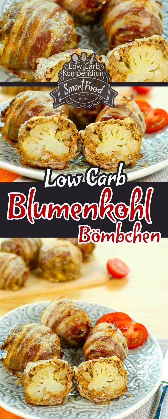 Low-Carb Blumenkohl-Bömbchen. Bereits unsere Low-Carb Blumenkohlbombe hat unsere LeserInnen schon begeistert  Schlank mit Low-Carb Buch  Die Blumenkohl-Bömbchen sind einfach eine kleinere Variante der (Fitness Food Low Carb)