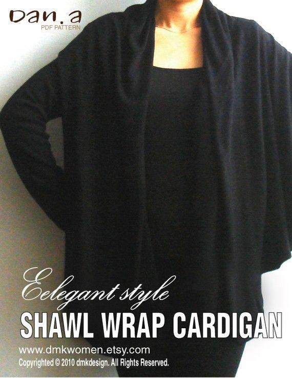 Eleganter Stil Schal wickeln Cardigan PDF-Muster und von dmkwomen