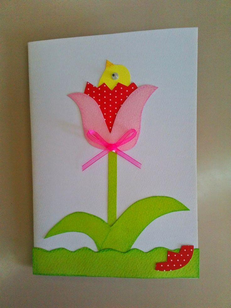 Maro's kindergarten: Πασχαλινά καλαθάκια - χωνάκια, οι κάρτα μας και οι ευχές μας!