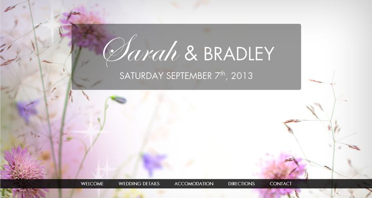 Floral theme by ourbigdayinfo.com. Theme includes an online RSVP for your wedding guests. Click this pin to begin creating your wedding website with this Floral theme.