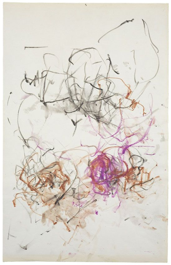 """Joan Mitchell, """"Untitled,"""" 1967. Colored pencil and watercolor on paper. Collection of the Joan Mitchell Foundation, New York. Copyright (c) Estate of Joan Mitchell."""