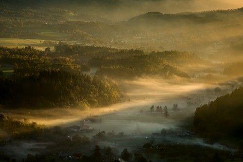 Misty Autumn Valley by Izabela Laszewska-Mitrega/Darek Mitręga