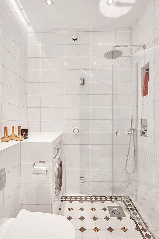 Bildresultat för litet badrum med tvättmaskin