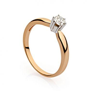 Кольцо солитер для предложения с бриллиантом