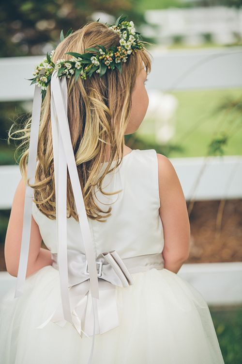 A classic flower girl look | Jessica Christie Photography | Brides.com