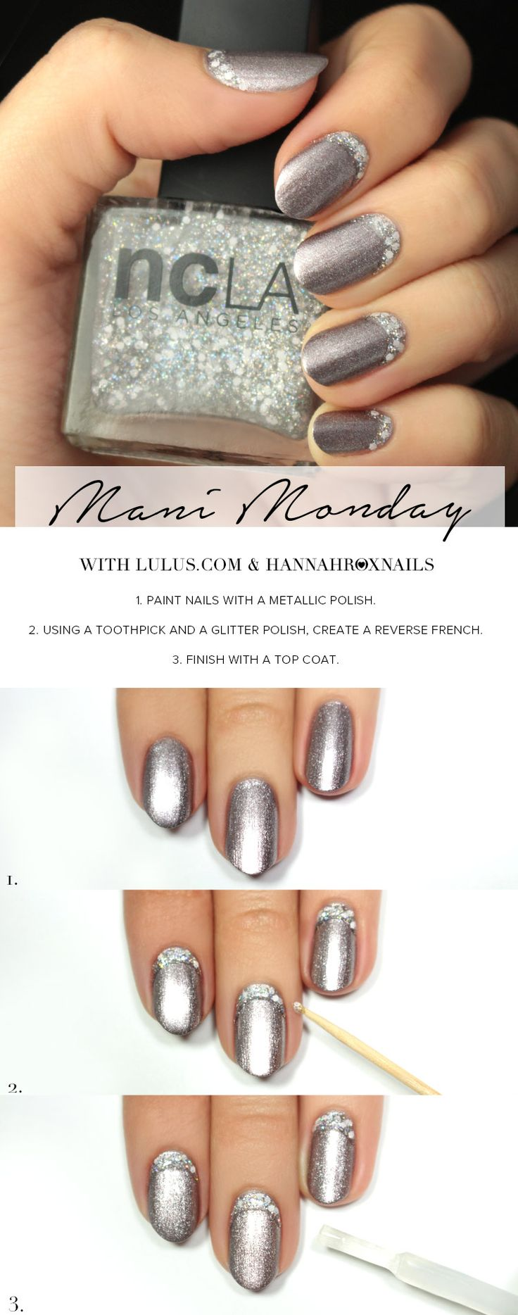 Mani Monday: NCLA Match Made in Cali Sparkle & Shine Nail Tutorial at LuLus.com!