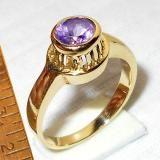 Monili all'ingrosso India. Sfaccettato ametista gemme anelli di ottone, Casting Anello fashion designer India.