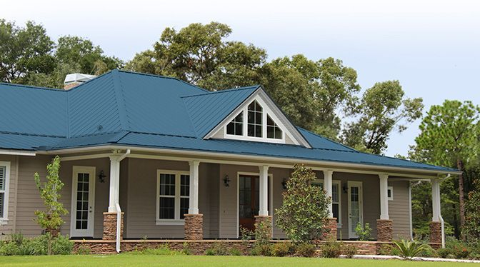 Metal roofing colors for houses metal roof system - Exterior paint colors with green metal roof ...