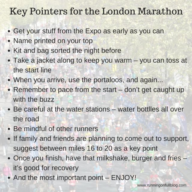 Advice for First Time London Marathon Runners