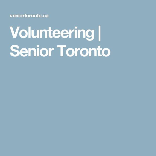 Volunteering | Senior Toronto